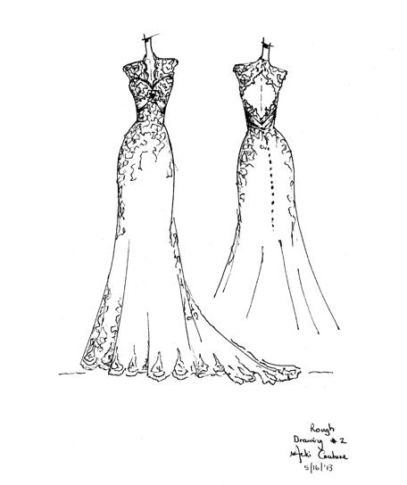 Create your dream wedding gown every dress is handmade and unique